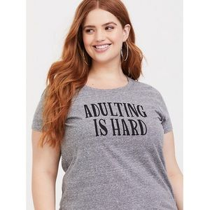 'Adulting is Hard' Slim Fit Tee